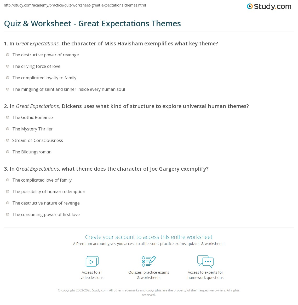 what is the theme of great expectations