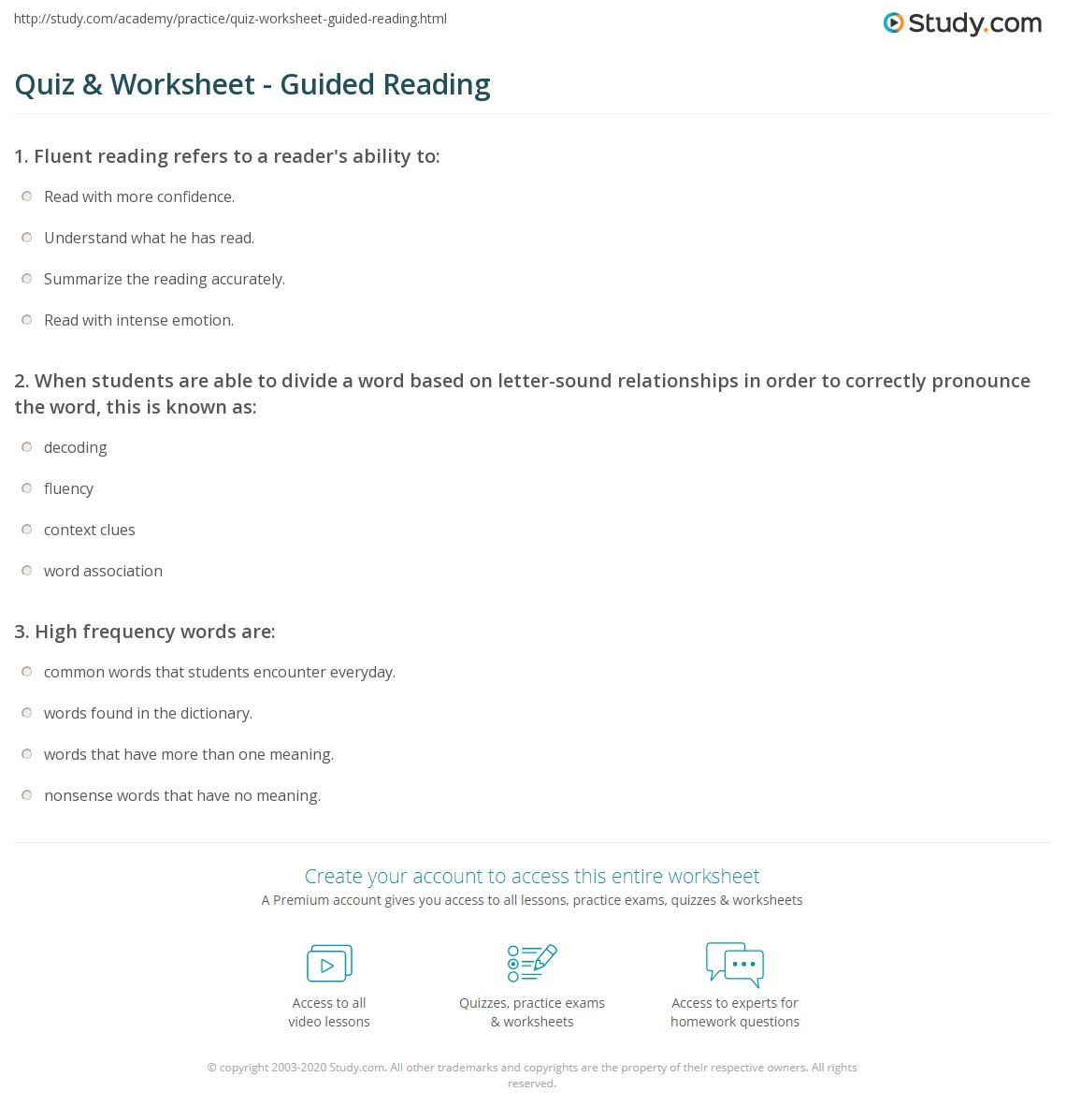 Worksheets Guided Reading Worksheets quiz worksheet guided reading study com print what is definition levels worksheet