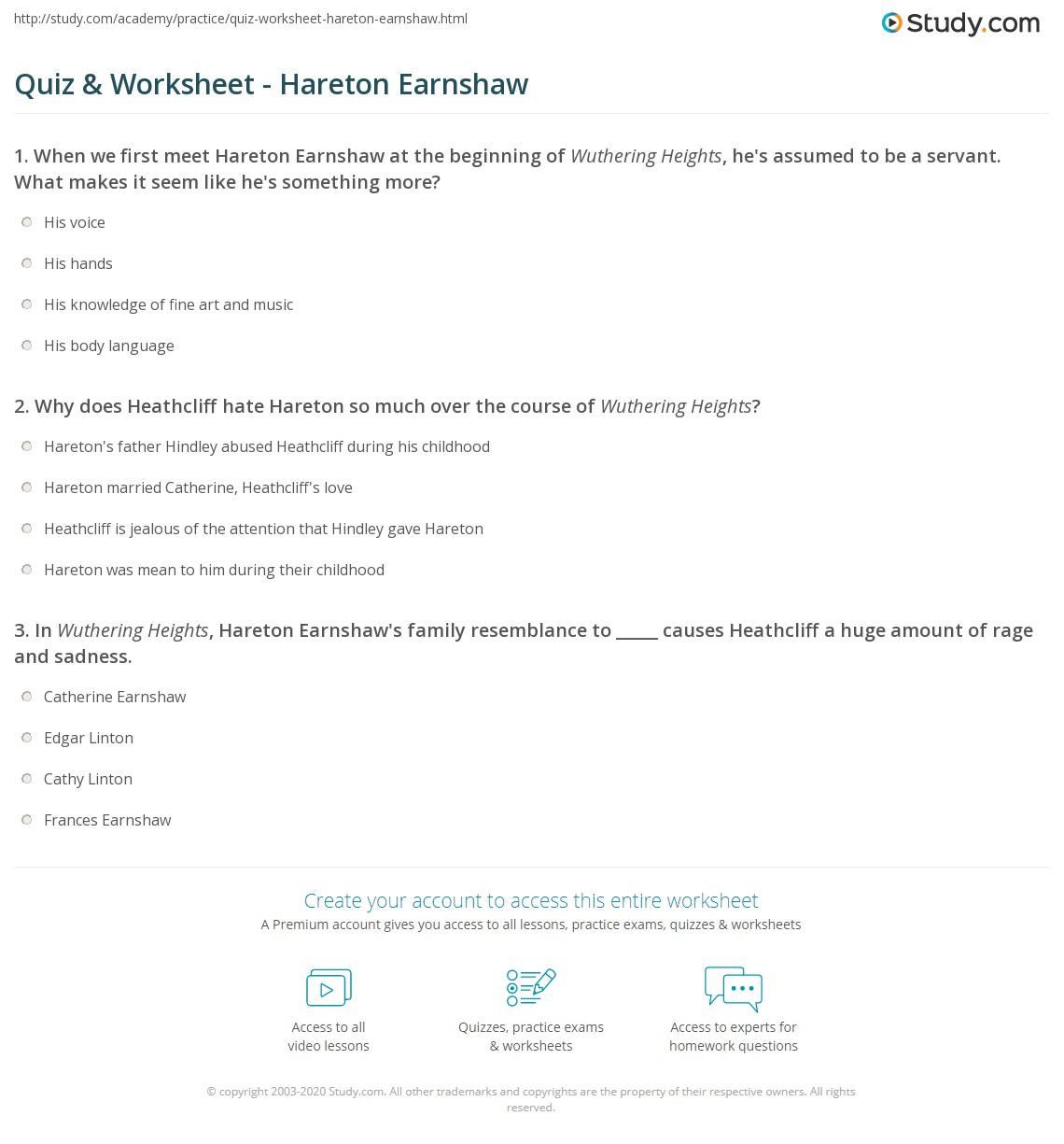 hareton and heathcliff relationship test