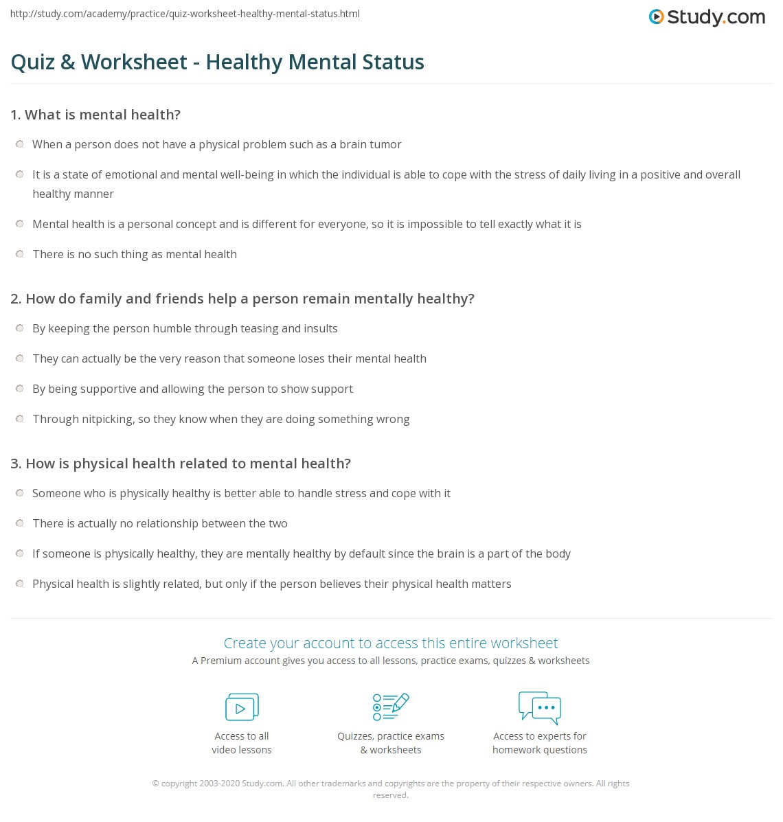 characteristics of a healthy person mentally