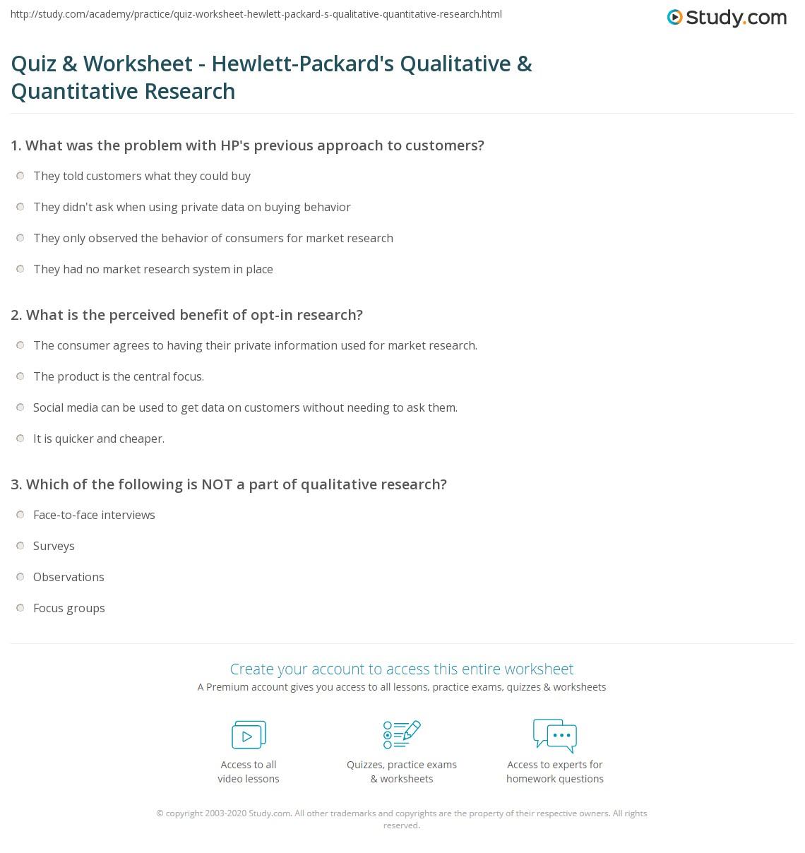 quantitative research case study