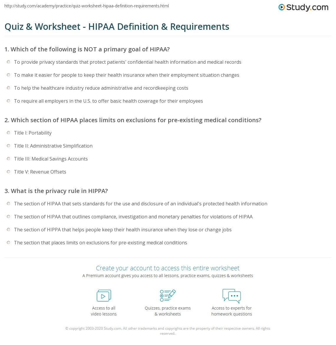 Obsessed image regarding printable hipaa quiz