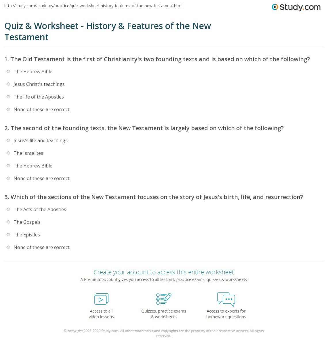 the new testament questions and answers Tour start here for a quick overview of the site help center detailed answers to any questions you might have meta discuss the workings and policies of this site.