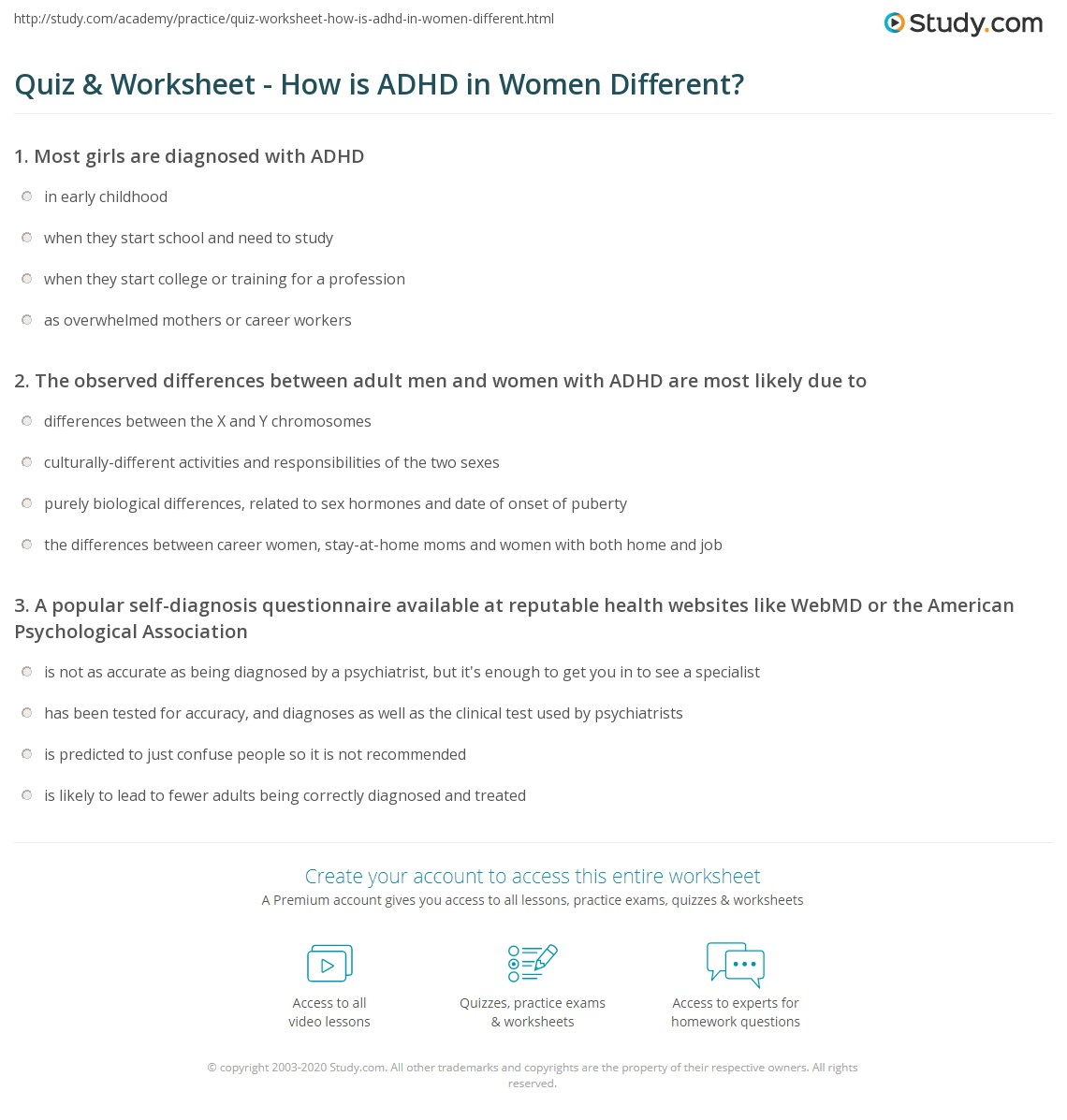 Adhd and adult woman
