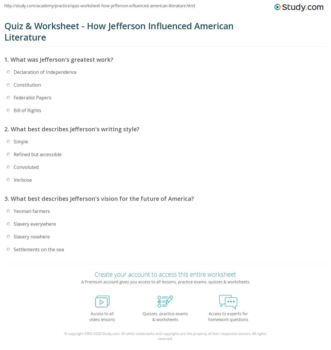 thomas jefferson impact