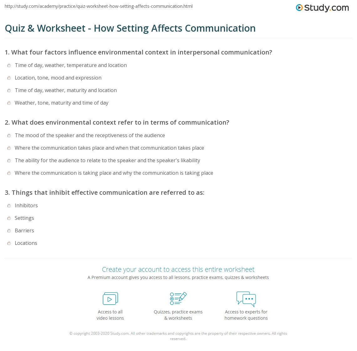 how does context affect communication