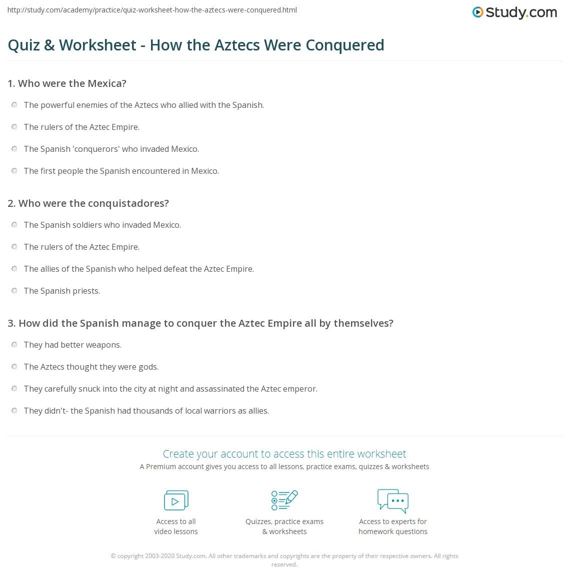worksheet Analogy Worksheets For 5th Grade world teachers press worksheets garciniapremiums quiz amp worksheet how the aztecs were conquered study com