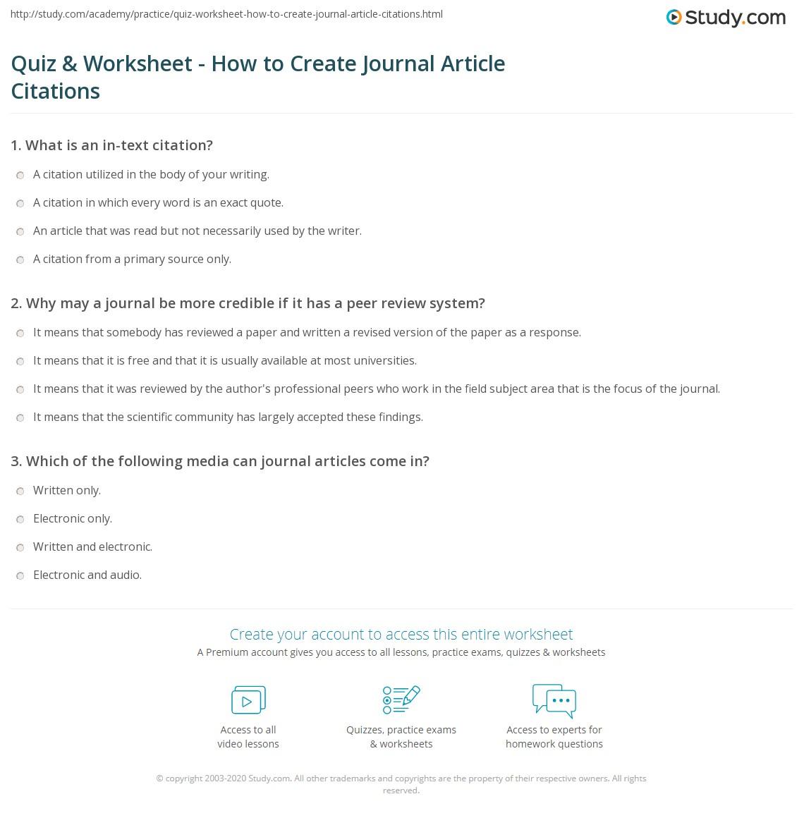 Article writer quiz