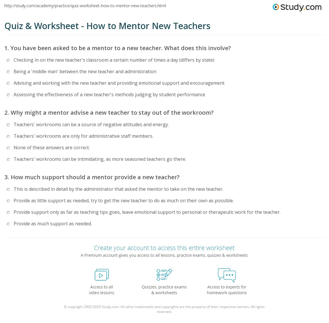 Worksheets Mentoring Worksheets quiz worksheet how to mentor new teachers study com print tips for mentoring worksheet