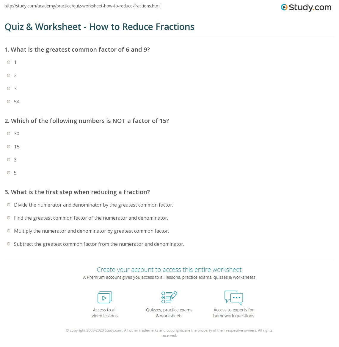 How to reduce the fraction Rules for all situations 9