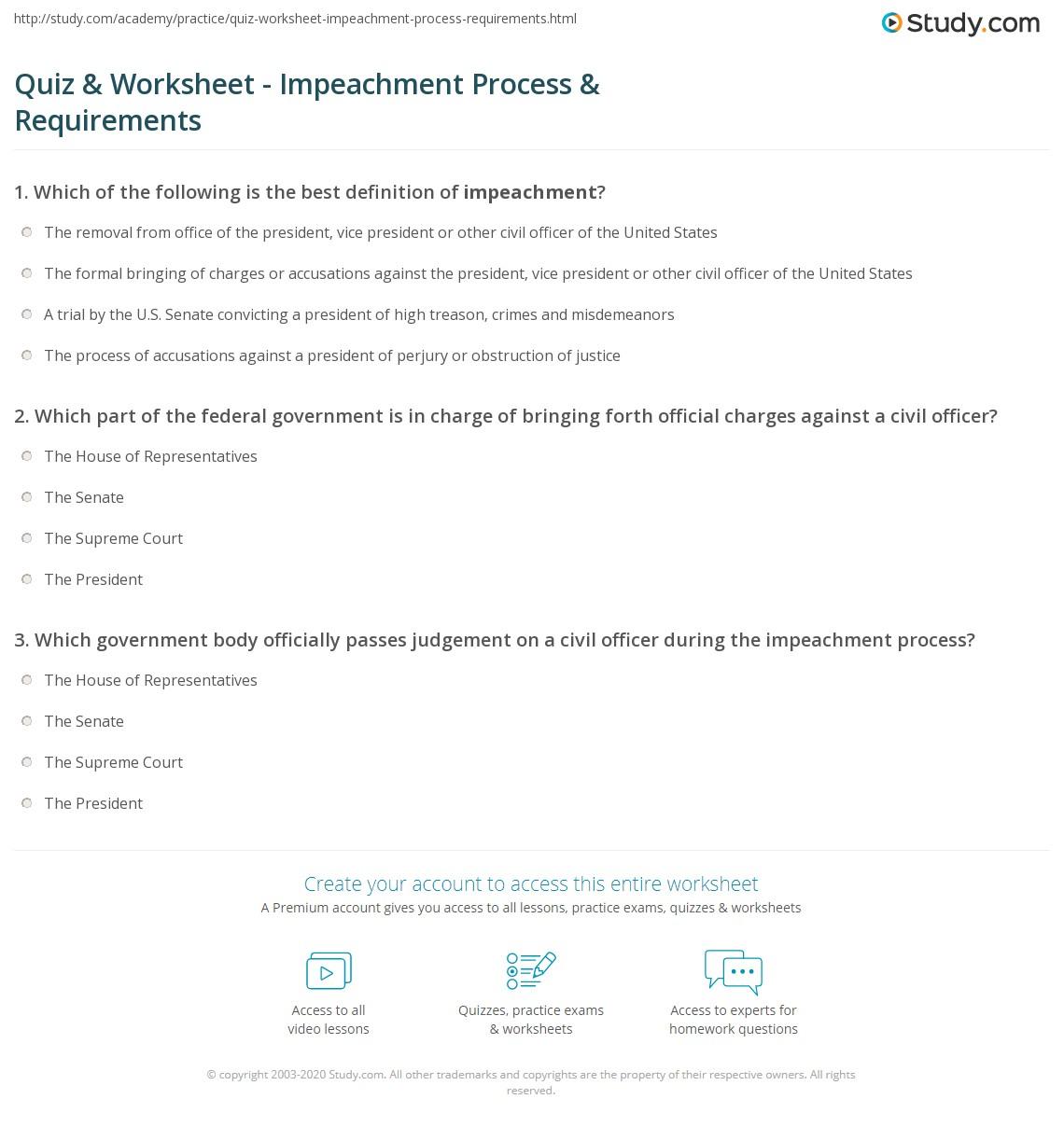 impeachment procedure of president