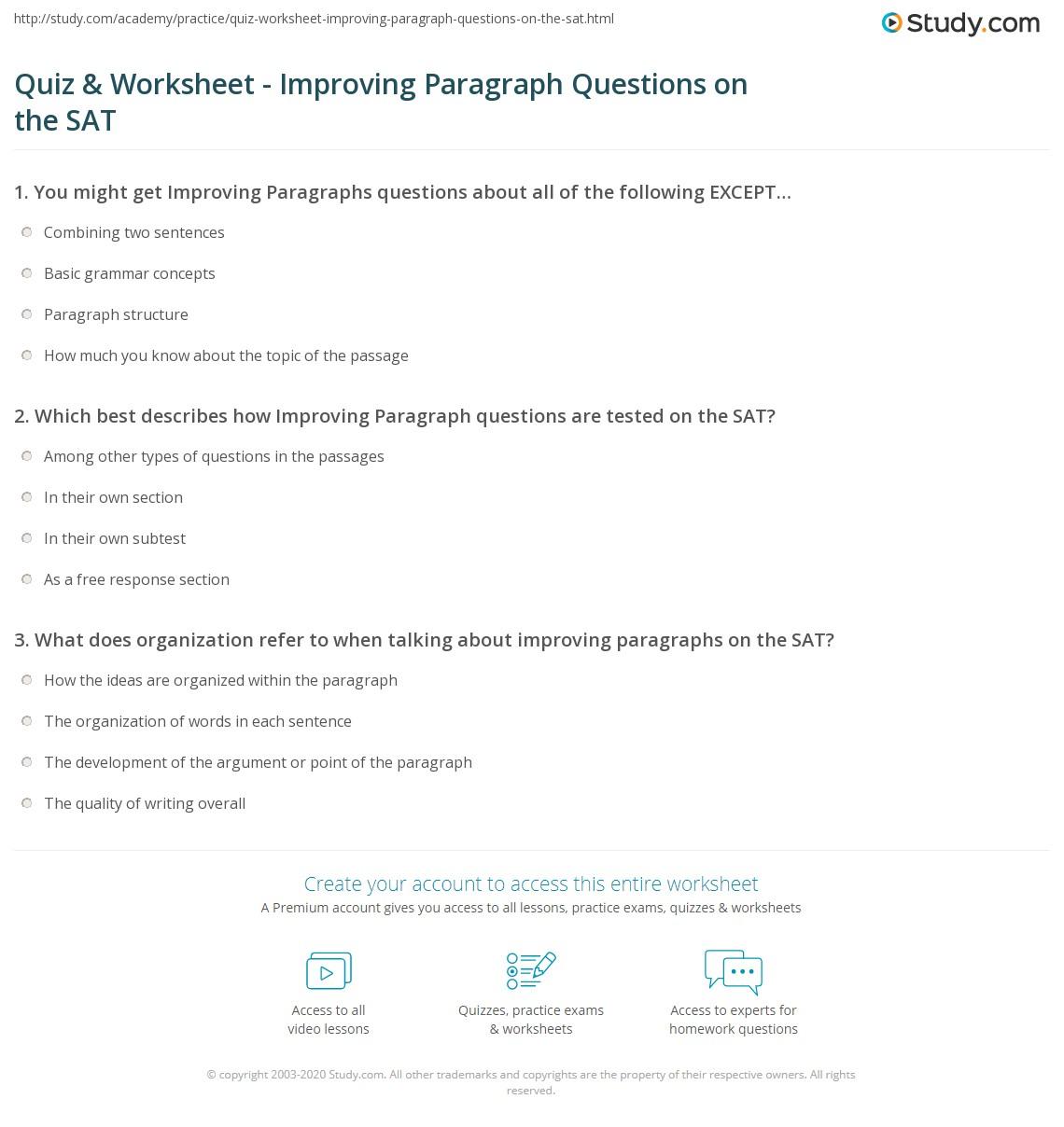 practice sat essay question