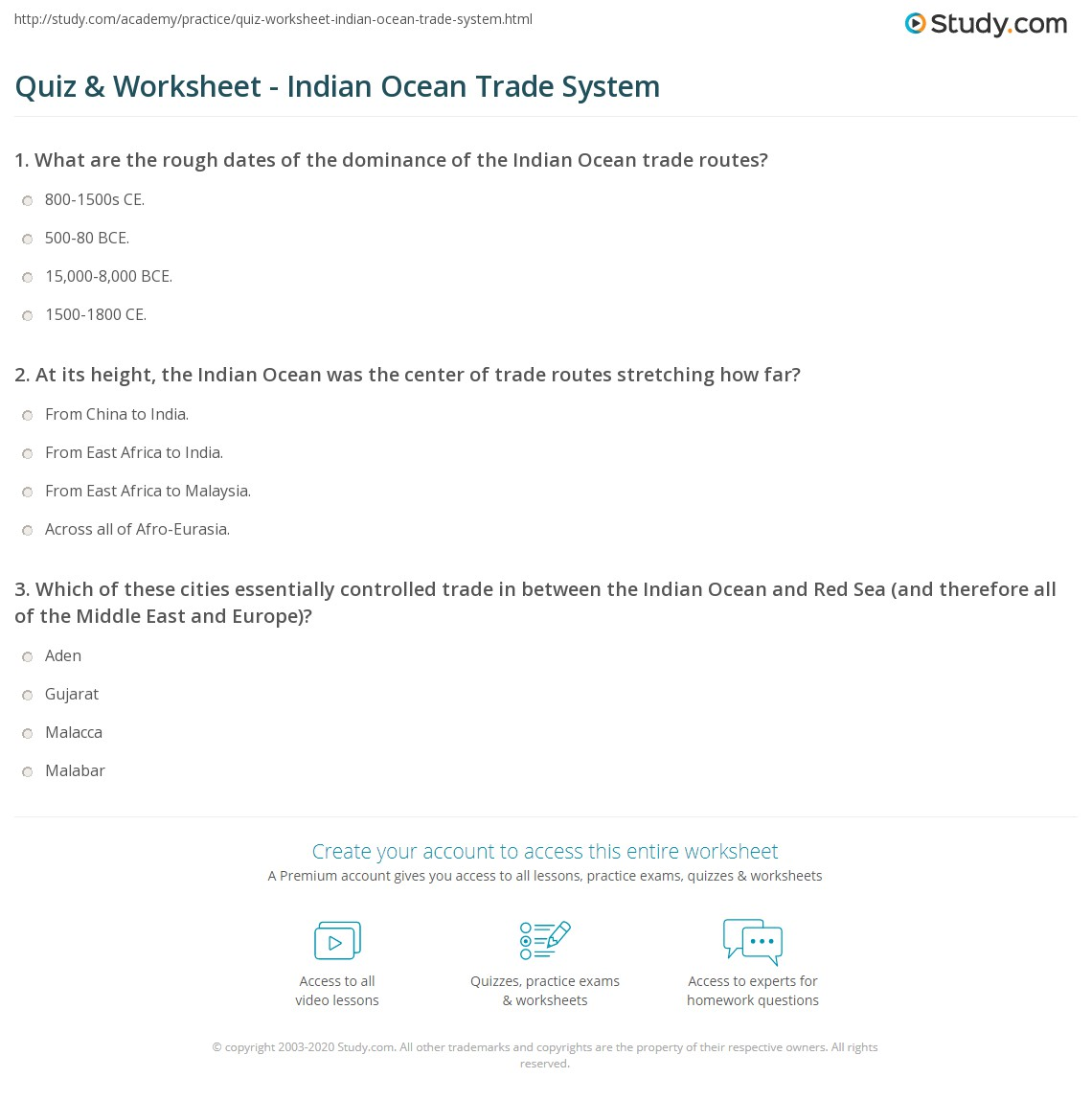 Indian Ocean Trade: Route, Network & History | Study.com