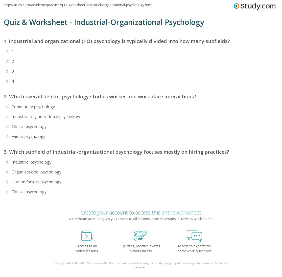 inustrial organizational psychology worksheet Online safety degrees at columbia southern university columbia southern university offers completely online safety degreescovering a range of subjects such as hazardous materials management, construction safety, osha safety training and accident investigation, our associate, bachelor's and master's degree programs are designed to.