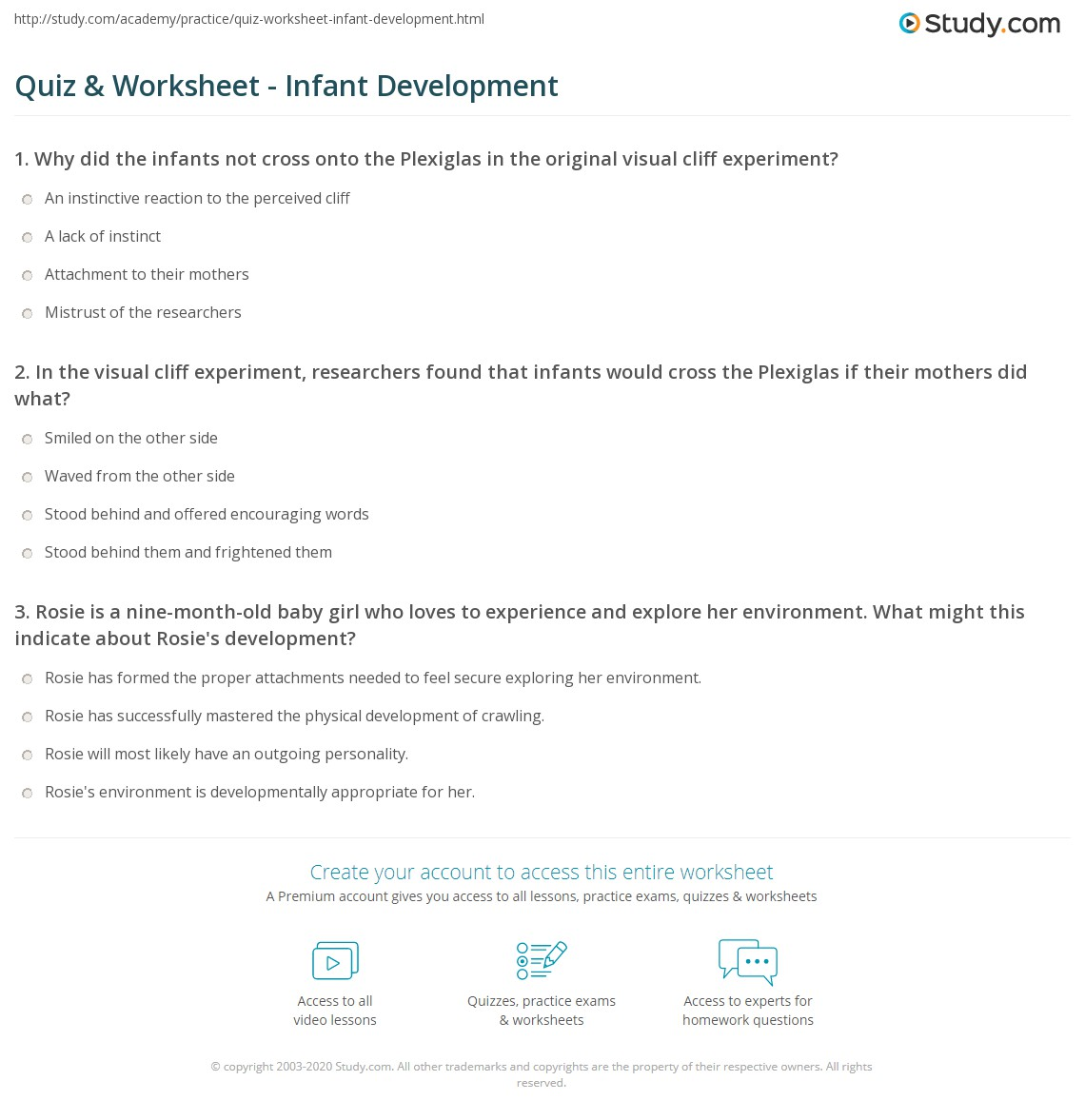 infancy developmental stage worksheet Empirical studies of the ounce and work sampling in infancy and early  principles and exemplars for integrating developmental sciences knowledge into educator.