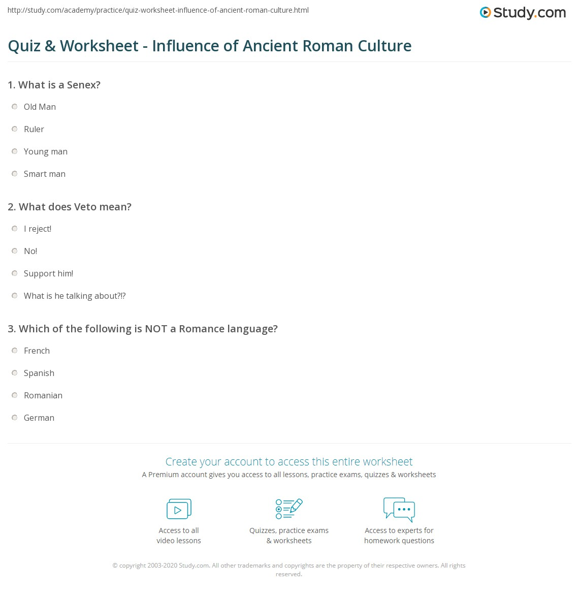 Uncategorized Ancient Rome Worksheets quiz worksheet influence of ancient roman culture study com print its on modern life worksheet