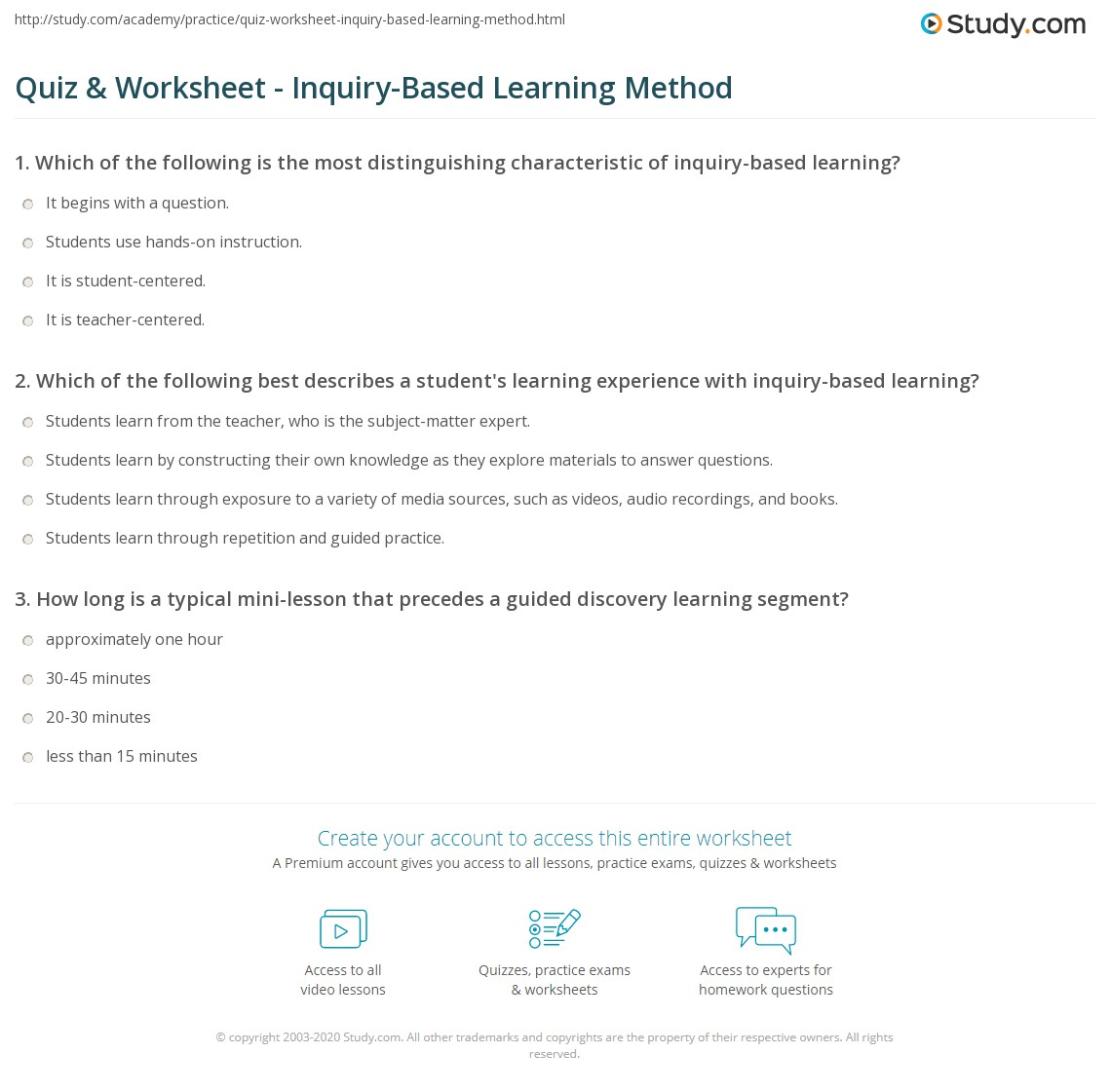 image regarding Learning Styles Questionnaire Printable identify Quiz Worksheet - Inquiry-Based mostly Mastering Solution