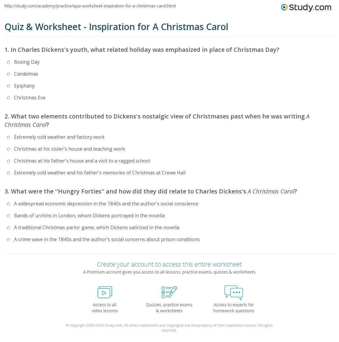 quiz worksheet inspiration for a christmas carol com print why did charles dickens write a christmas carol worksheet