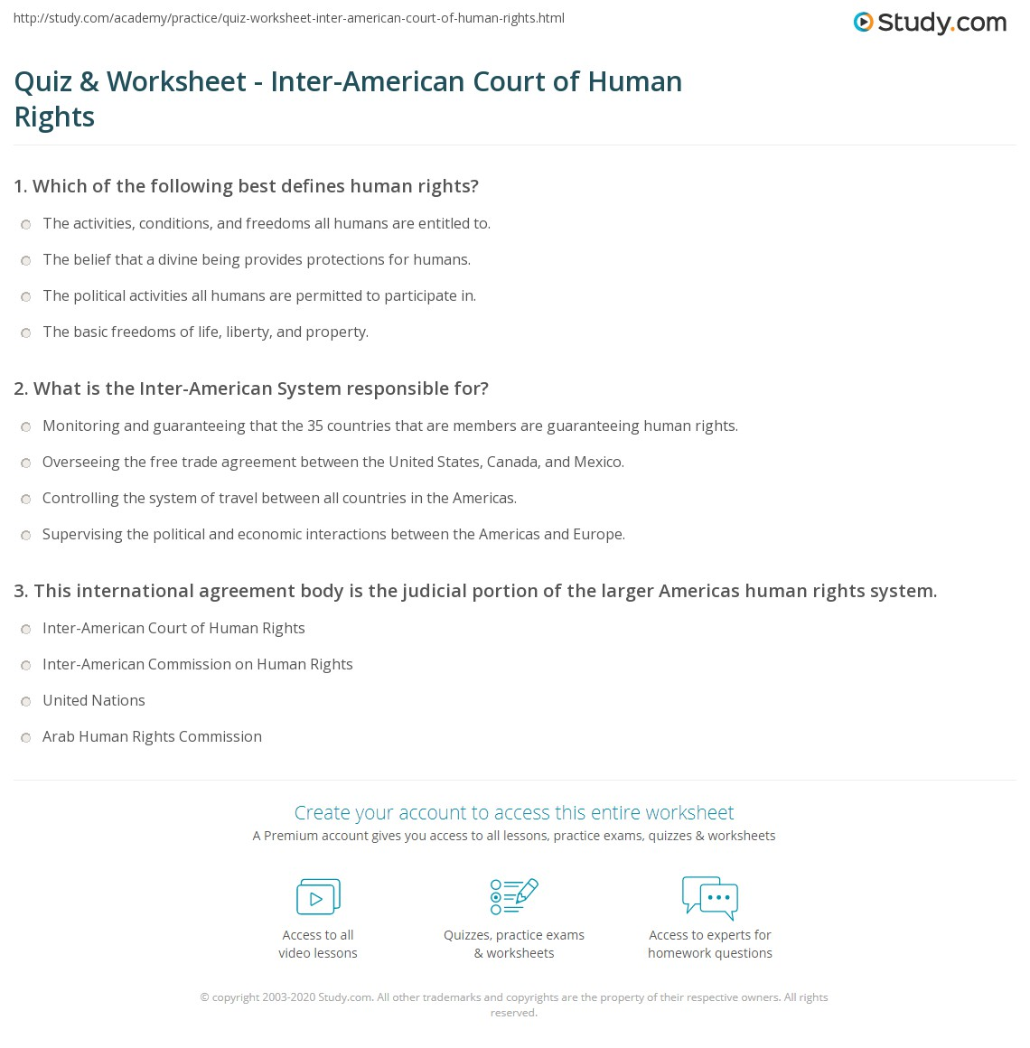 quiz worksheet inter american court of human rights. Black Bedroom Furniture Sets. Home Design Ideas