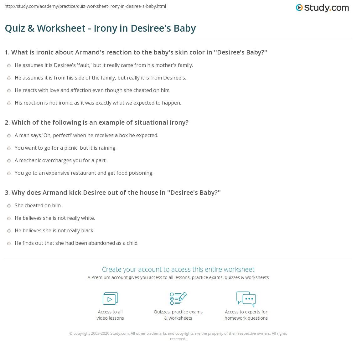desirees baby irony essay