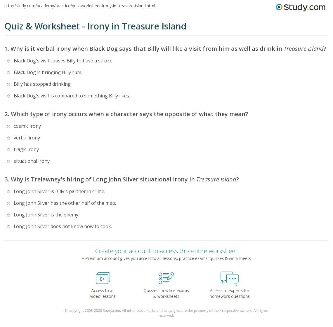 Irony Treasure Island