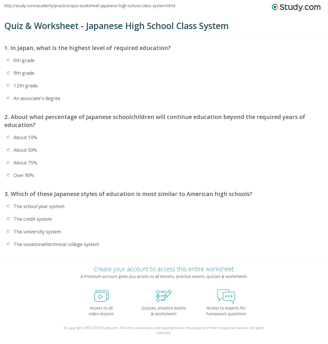 japanese high school class system