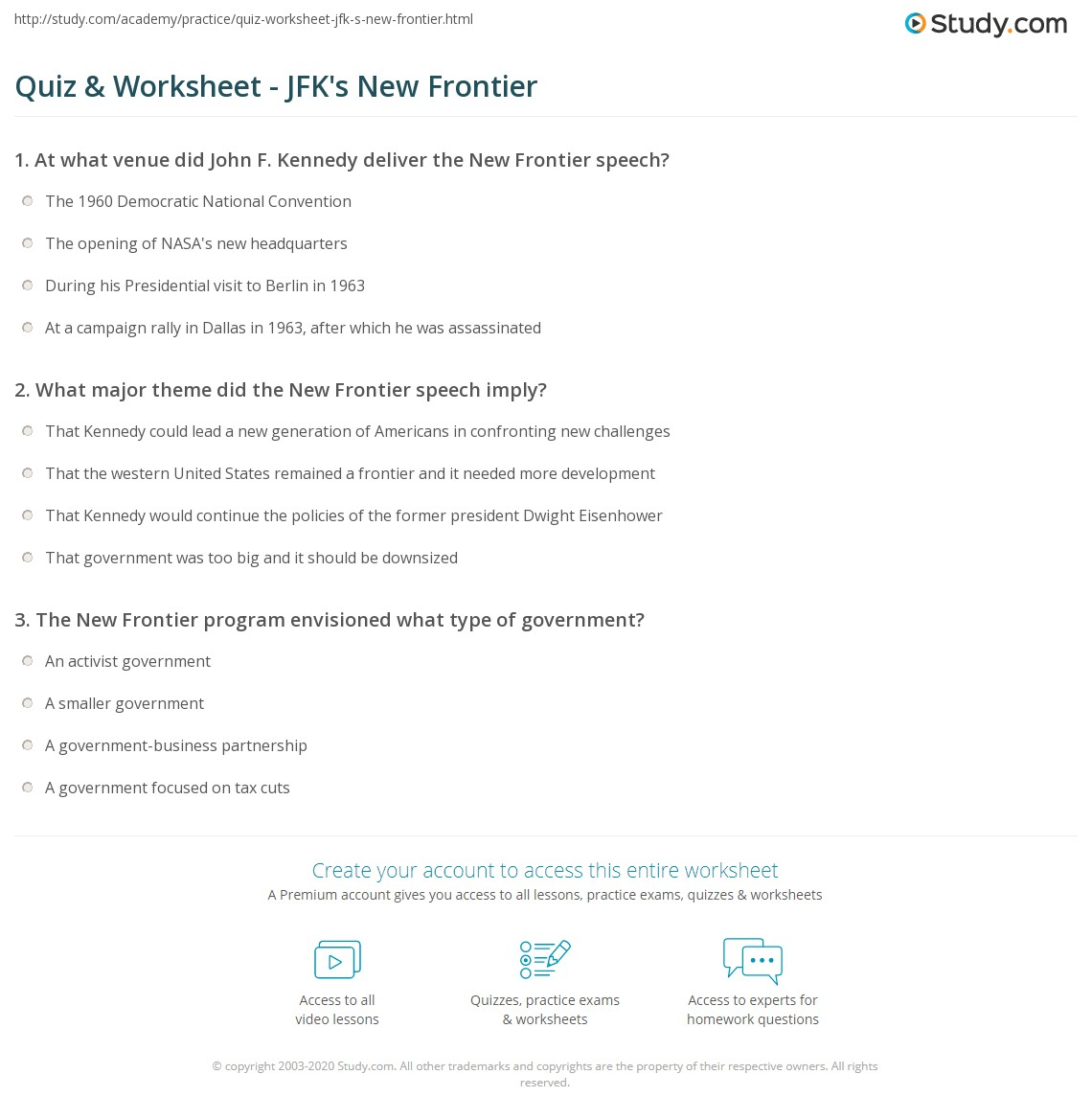 quiz worksheet jfk s new frontier study com rh study com Guided Reading Groups section 1 guided reading and review the new frontier answers