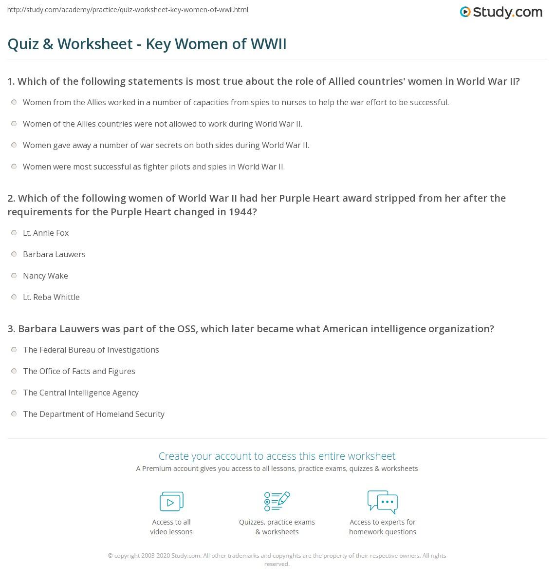 Famous women in World War 1?