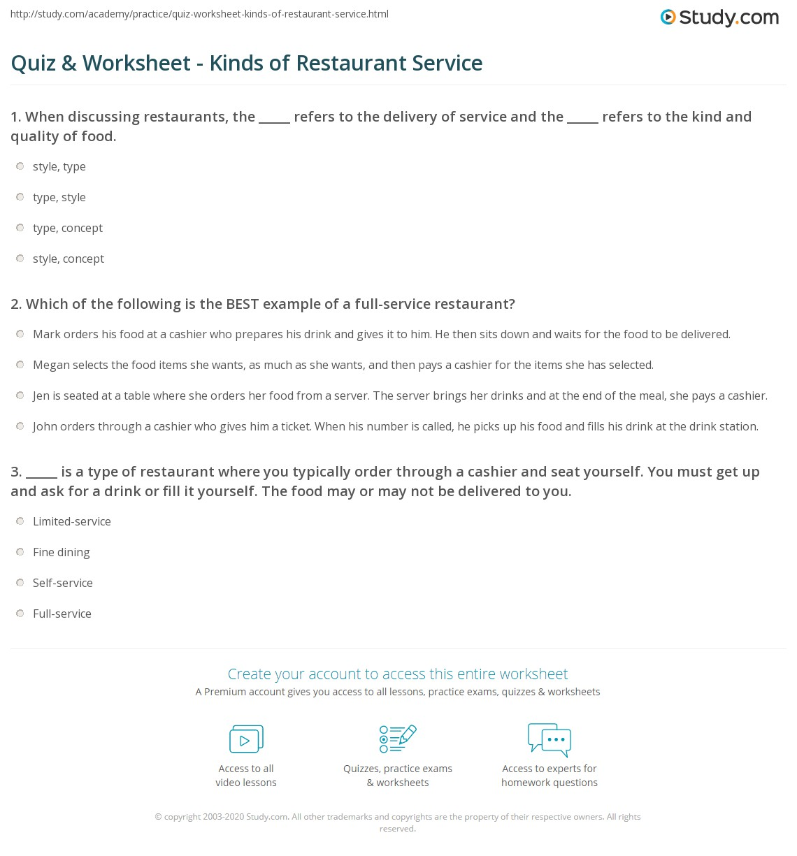 TYPES OF RESTAURANT SERVICE PDF DOWNLOAD