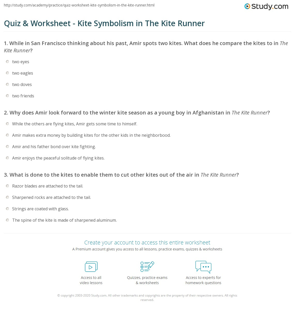Quiz worksheet kite symbolism in the kite runner study print what does the kite represent in the kite runner worksheet buycottarizona Gallery