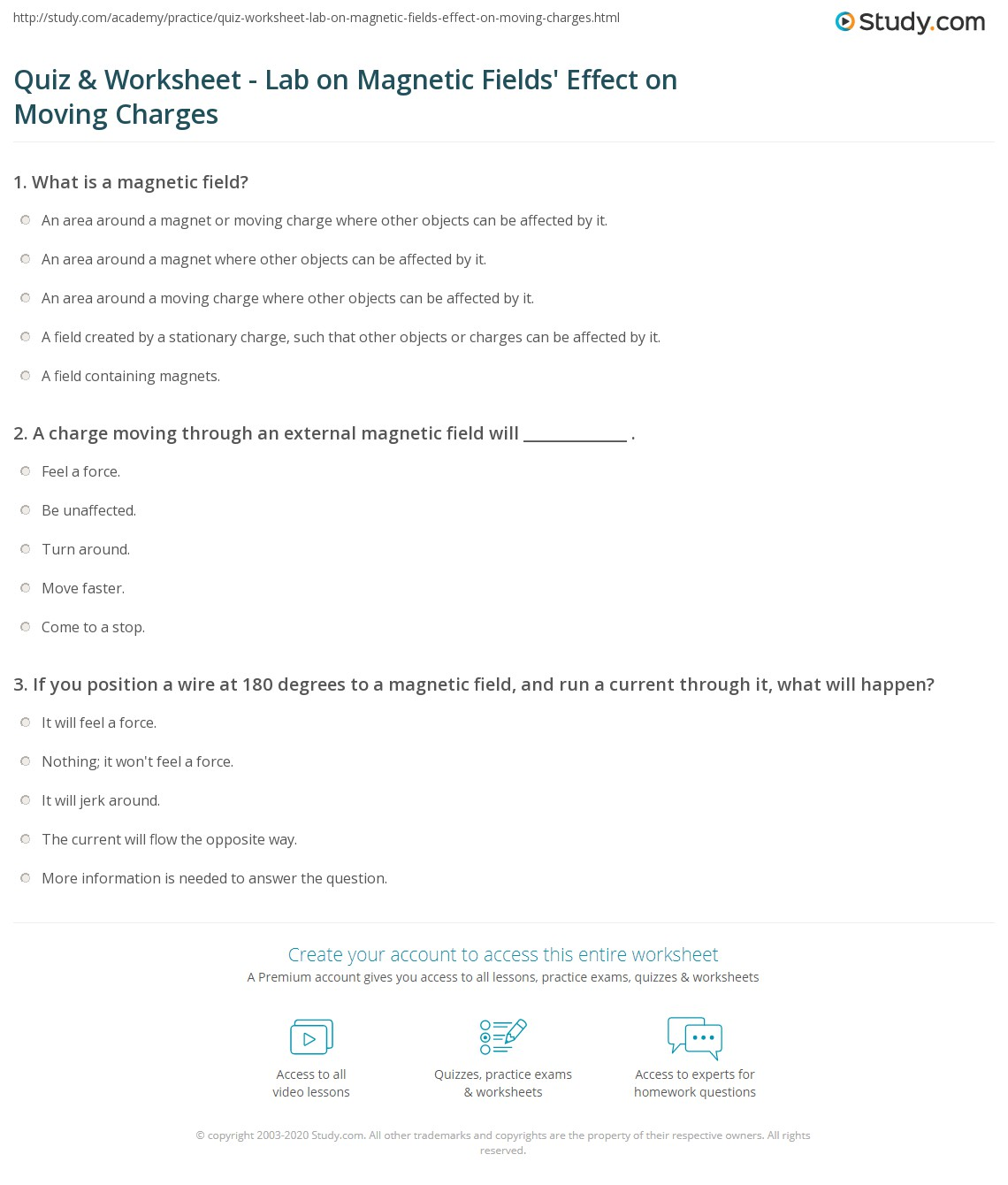 Collection of Magnetic Field Worksheet - Adriaticatoursrl