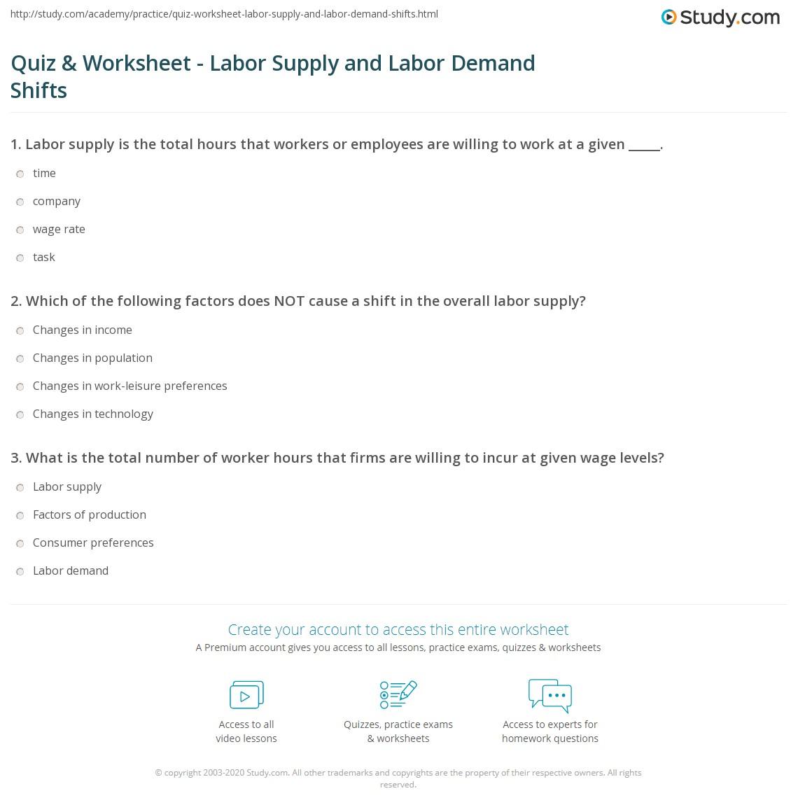 Labor Time Worksheet