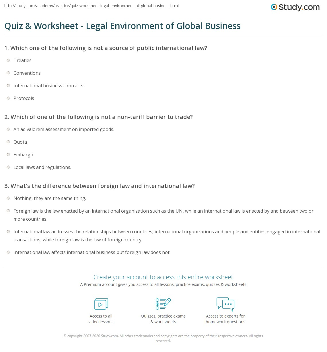 global business environment definition