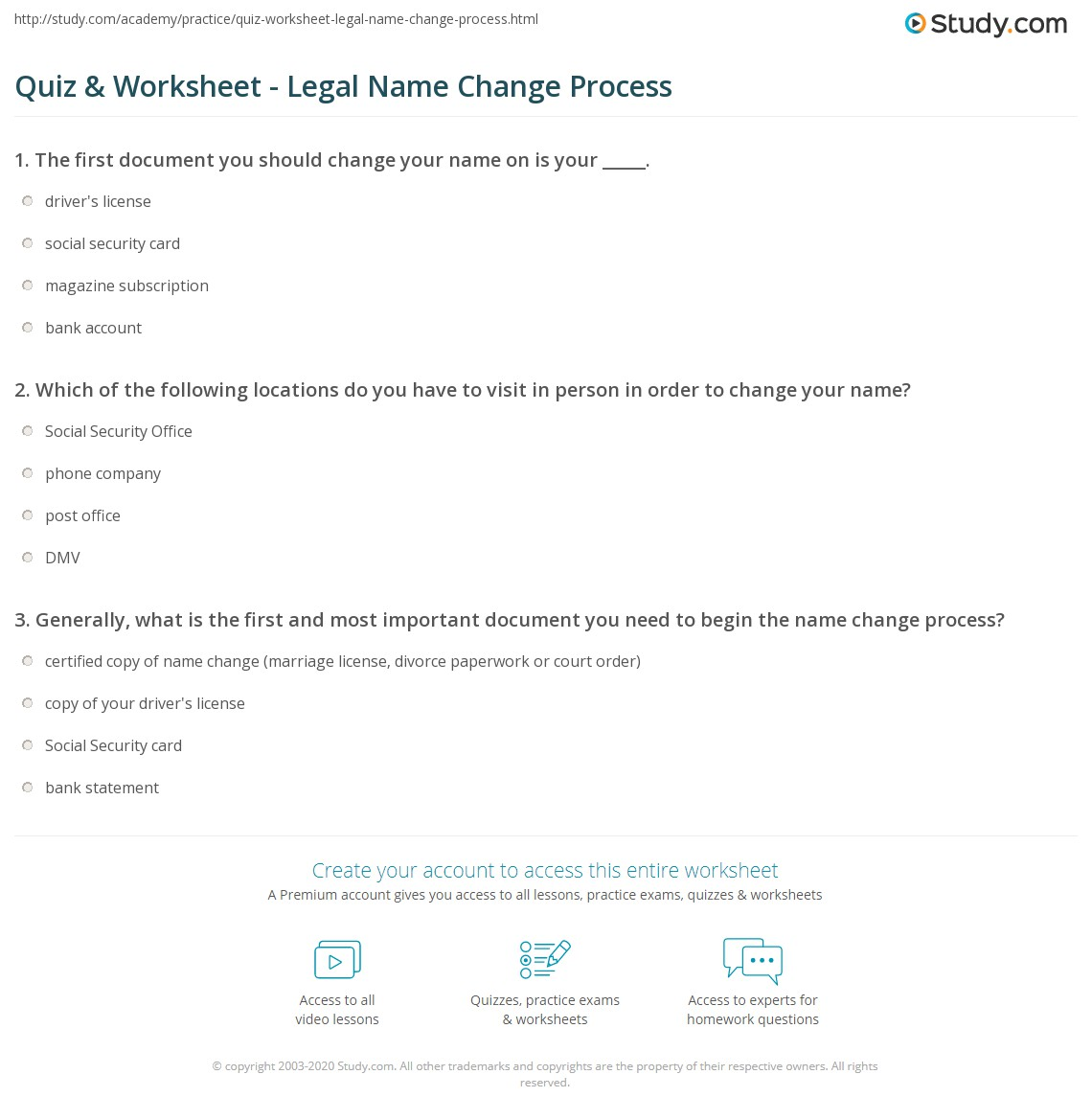 what is your name quiz