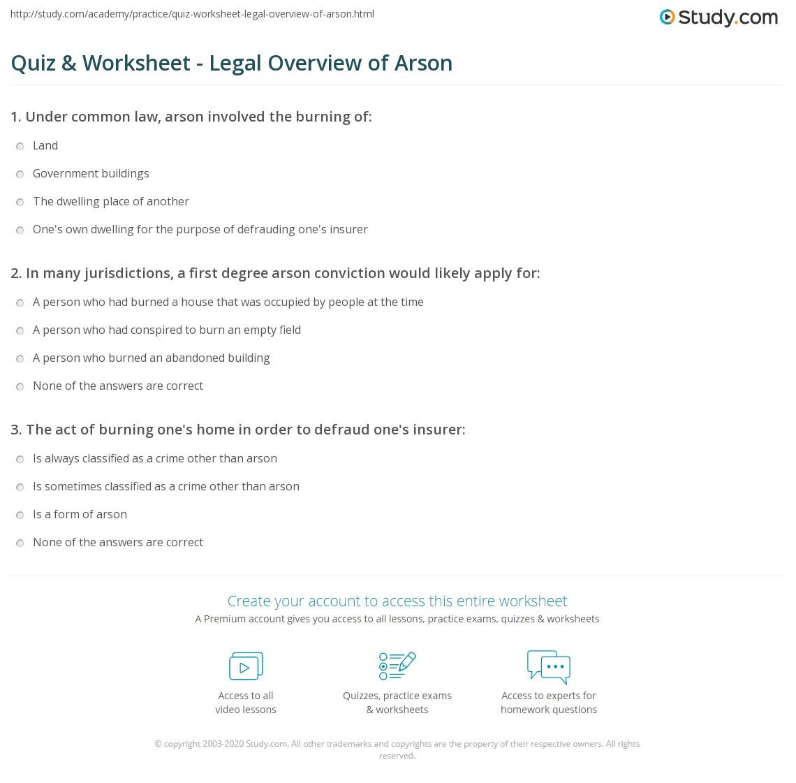 Definition U0026 Law Worksheet