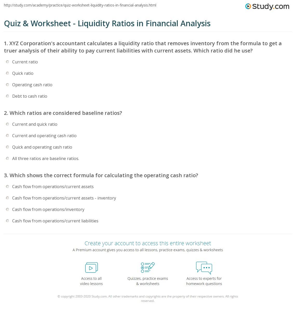 Financial Analysis: Solvency vs. Liquidity Ratios