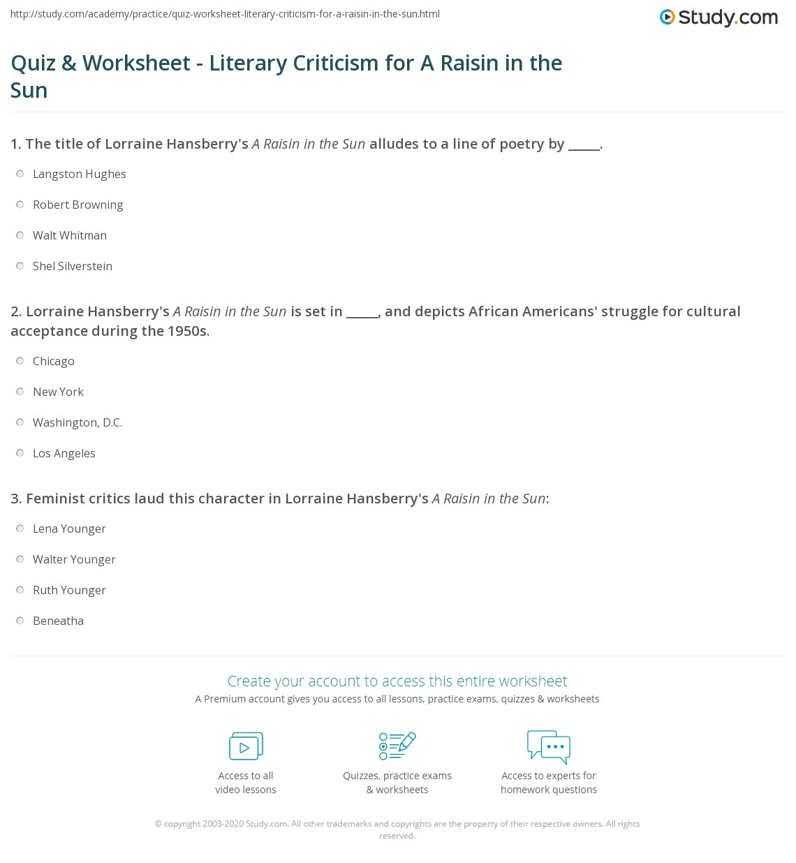 A Raisin In The Sun Worksheets Free Worksheets Library – A Raisin in the Sun Worksheets