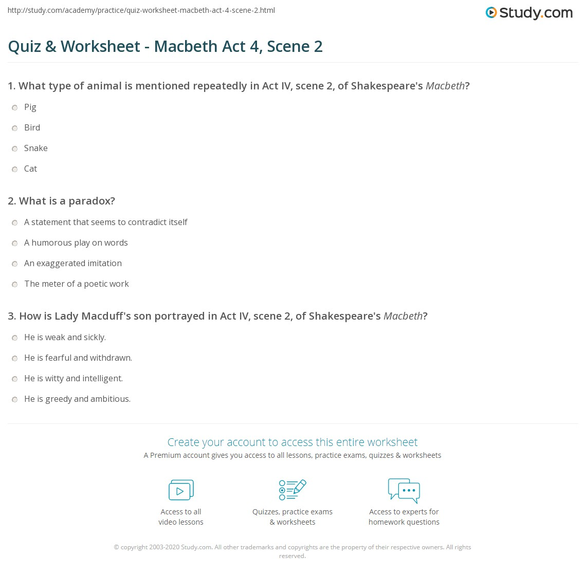 quiz worksheet macbeth act scene study com print macbeth act 4 scene 2 summary quotes worksheet