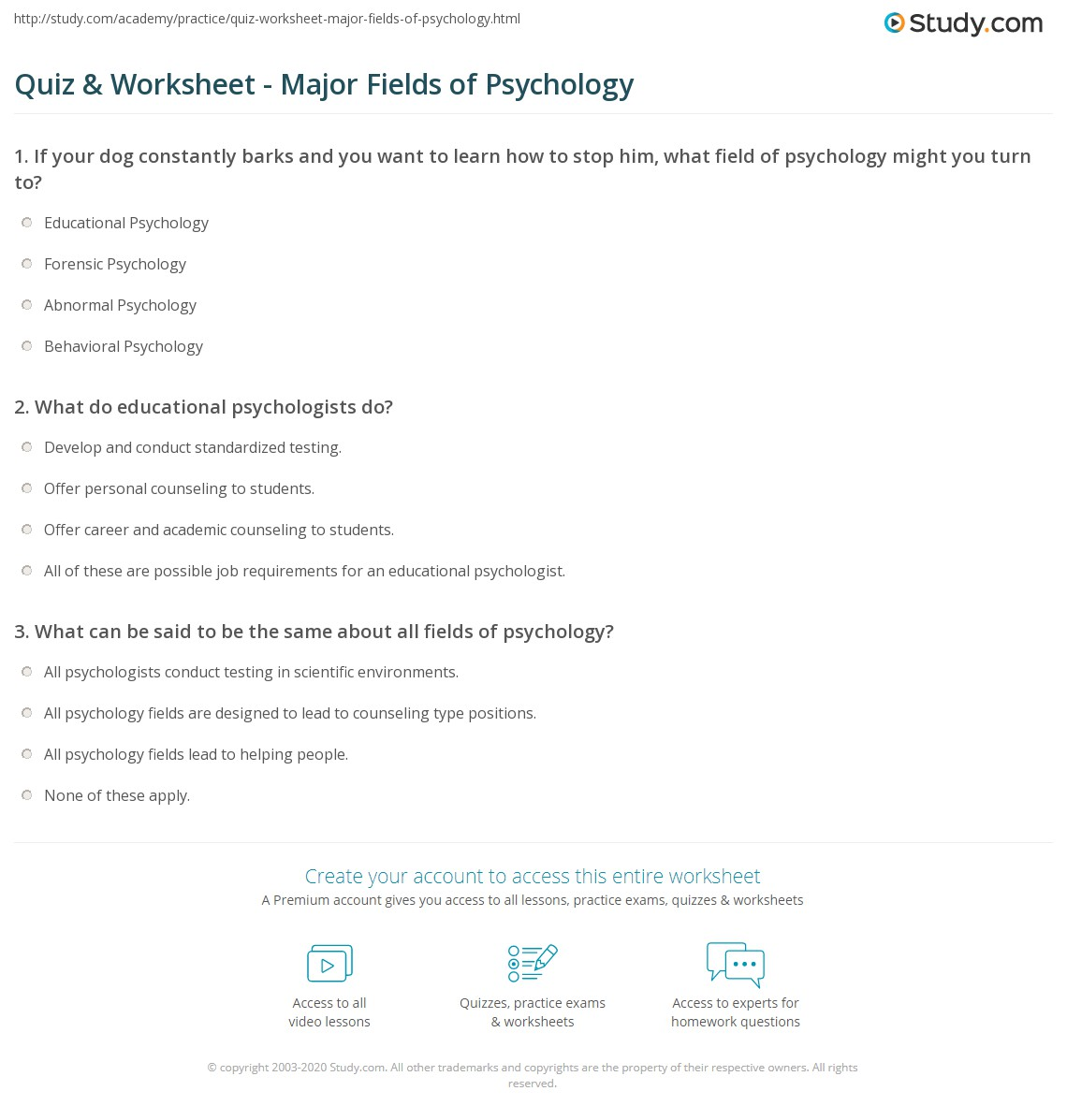 a discussion in the field of psychology Psychology is a broad area that encompasses a number of specialized fields, including clinical, counseling and school psychology read on to learn about a few of the different psychology fields in which you could specialize schools offering psychology degrees can also be found in these popular .