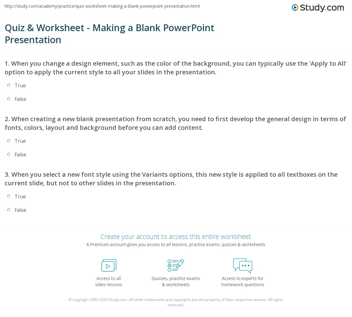 worksheet How To Make A Fill In The Blank Worksheet quiz worksheet making a blank powerpoint presentation study com print how to create worksheet