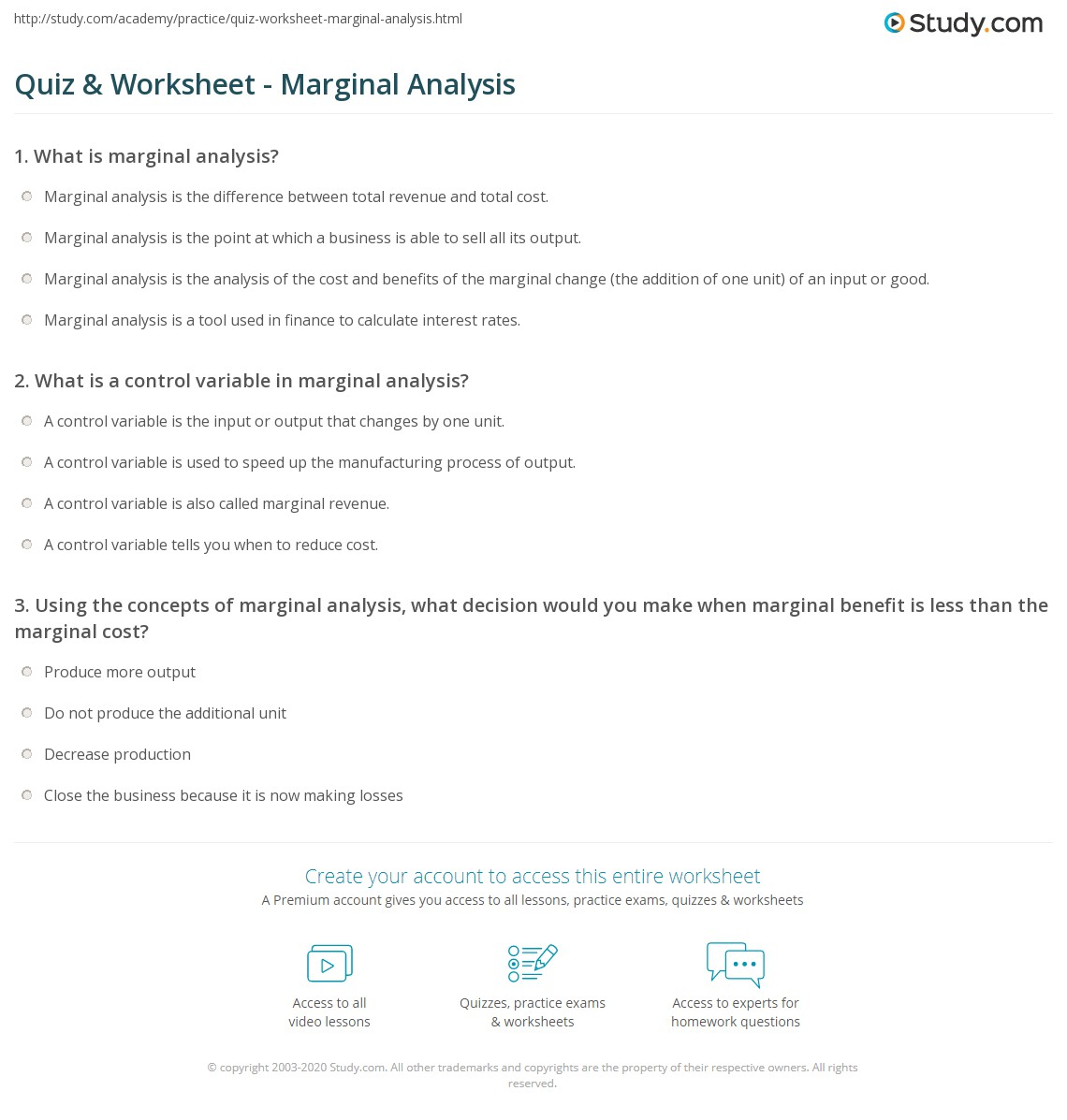 economics concepts worksheet marginal analysis The following points highlight the seven fundamental concepts of managerial economics the concepts are: 1  flexible than marginal concepts in general we .