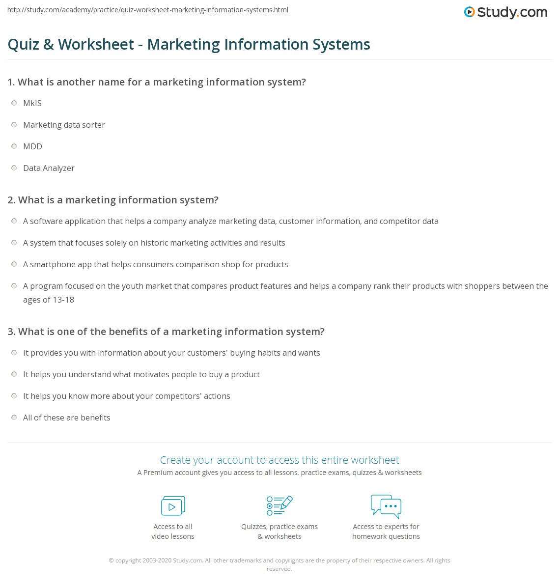marketing quiz questions and answers pdf