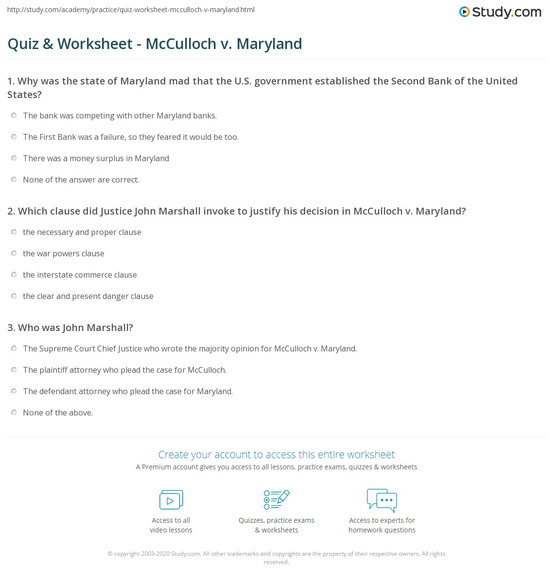 quiz worksheet mcculloch v maryland. Black Bedroom Furniture Sets. Home Design Ideas