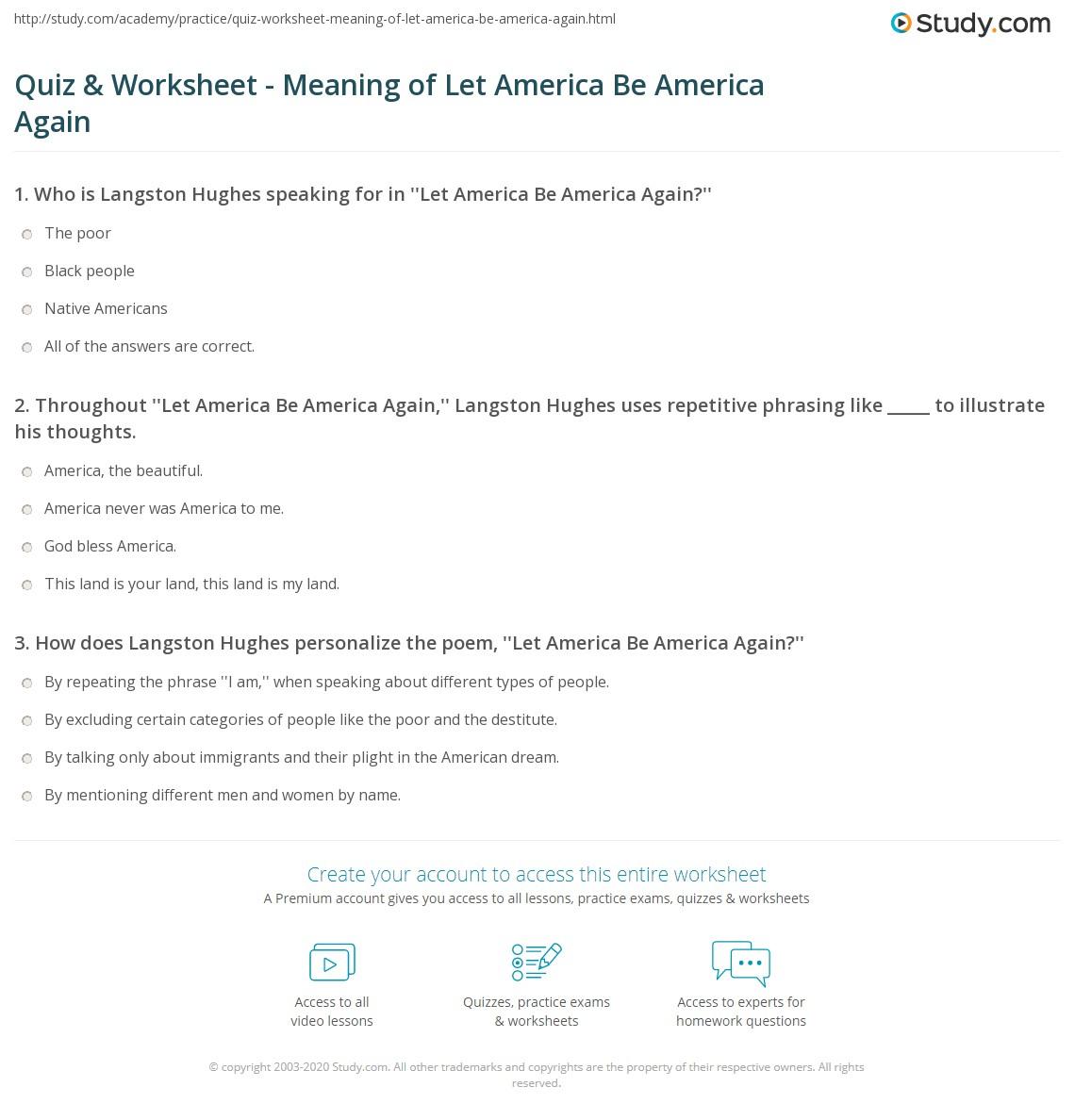 let america be america again analysis