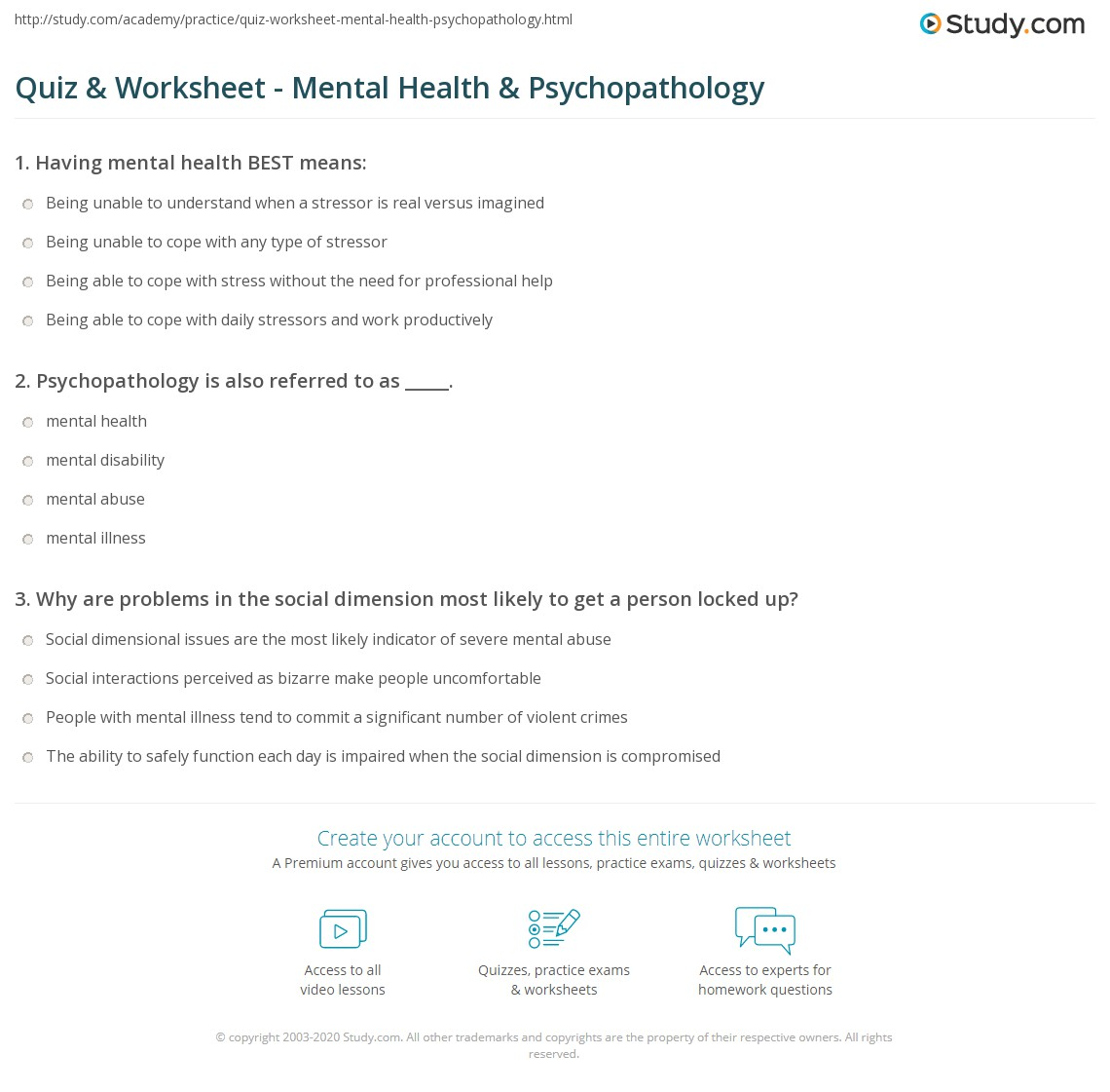 a study on the mental setup Start studying exam 3 study guide mental health learn vocabulary, terms, and more with flashcards, games, and other study tools.