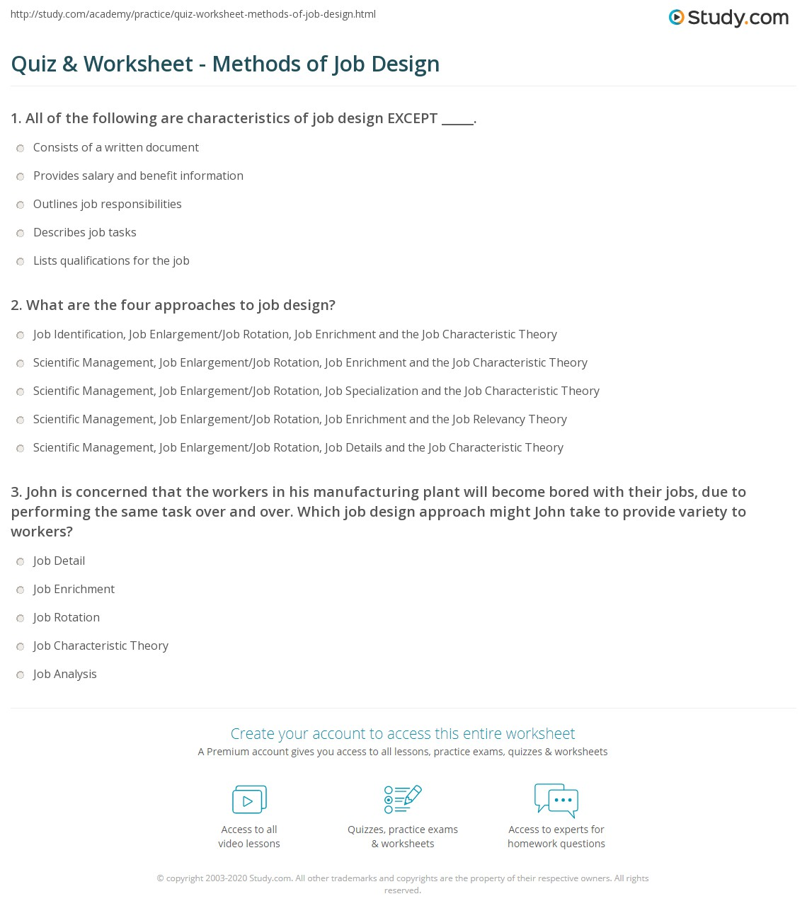 Job Design Worksheet Term Paper Academic Service Lxassignmentlmca