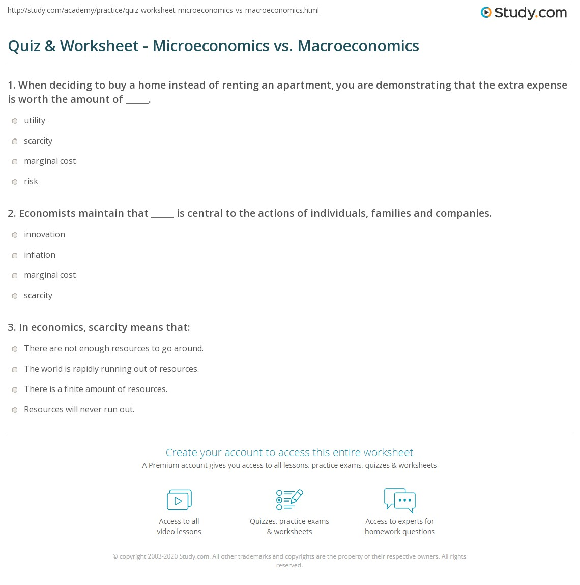 choose all the topics that are related to microeconomics