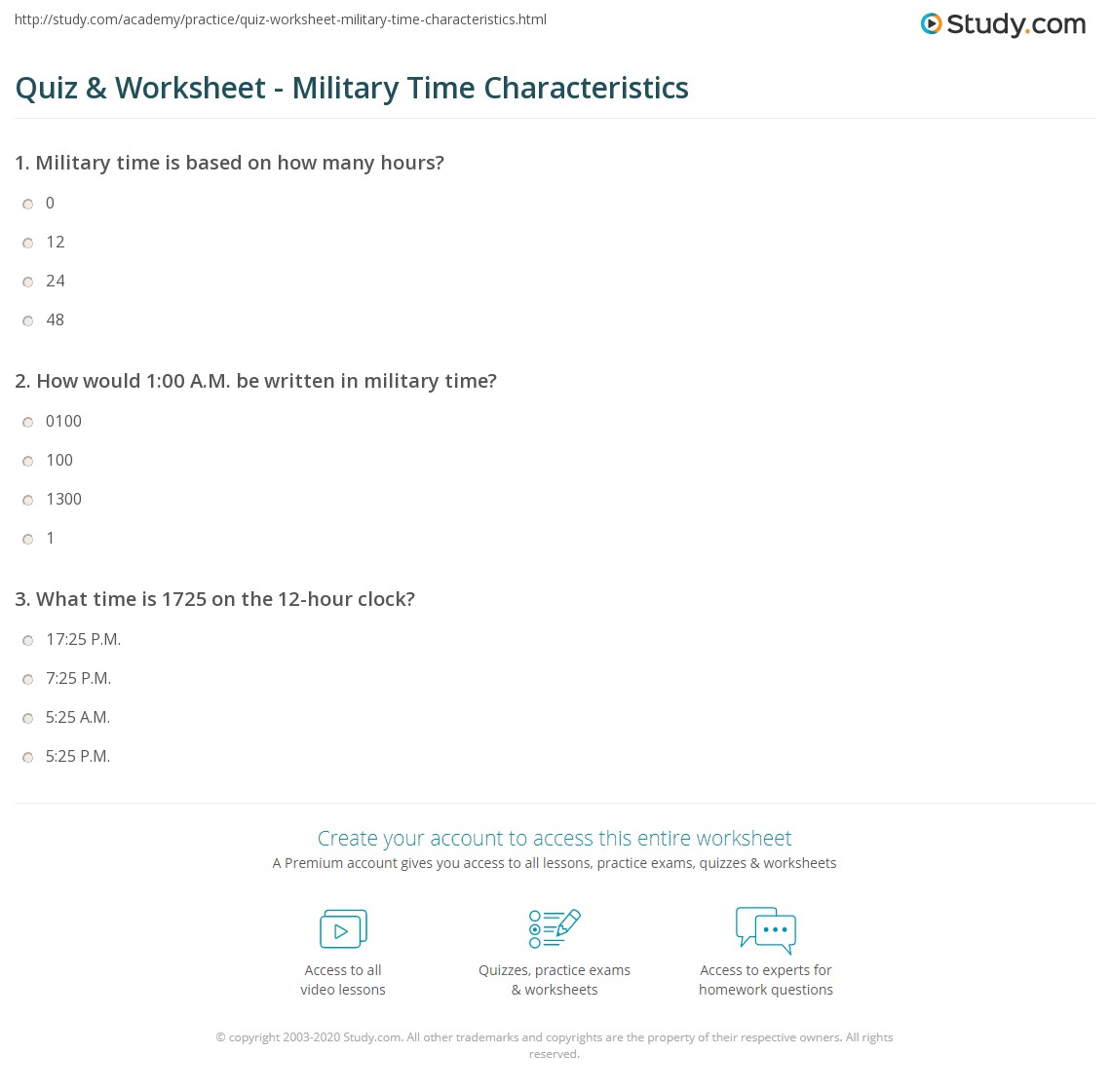 worksheet Am And Pm Worksheets quiz worksheet military time characteristics study com how would 100 a m be written in time