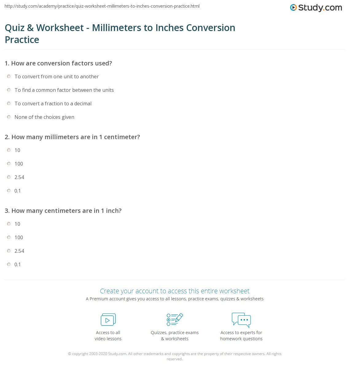 worksheet Conversion Practice Worksheet quiz worksheet millimeters to inches conversion practice print converting 5mm worksheet