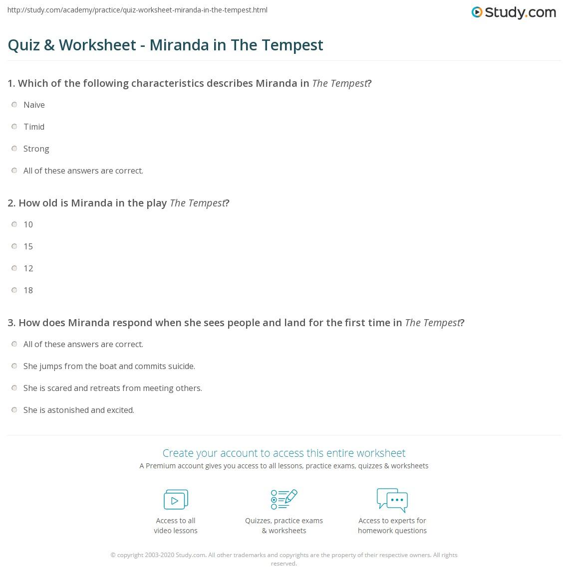 miranda the tempest character analysis